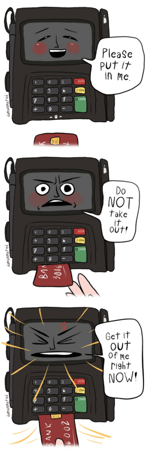 cobaltdays: damianimated: Sometimes those chip readers are just a little too aggressive.  : cobaltdays: damianimated: Sometimes those chip readers are just a little too aggressive.