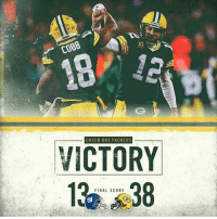 Moving on: COBB  GREEN BAY PACKERS  VICTORY  FINAL SCORE Moving on