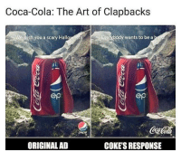 Coca-Cola, Halloween, and Art: Coca-Cola: The Art of Clapbacks  We wish you a scary Halloween!  Everybody wants to be a bero  ep  ORIGINAL AD  COKE'S RESPONSE 😂😝😂