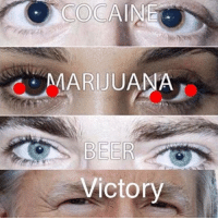 The wall will prevail: COCAINE  MARIJUANA  BEER  Victory The wall will prevail