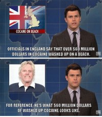 Cocaine's a helluva drug.: COCAINE ON BEACH  OFFICIALS IN ENGLAND SAY THAT OVER S60 MILLION  DOLLARS IN COCAINE WASHED UP ON A BEACH  IVE   FOR REFERENCE HE'S WHAT S60 MILLION DOLLARS  OF WASHED UP COCAINE LOOKS LIKE  LIVE Cocaine's a helluva drug.