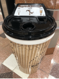 Reddit, Shopping, and Target: COFFEE Cup STATION  LIDS  LIQUID  CUPS humoristics:A coffee cup disposal station at my local shopping centre credit