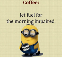 jet fuel: Coffee:  Jet fuel for  the morning impaired  Coffe