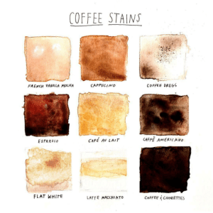 vanilla: COFFEE STAINS  CAPPUCINO  COFFEE DREGS  FRENCH VANILLA MOCHA  CAFFE AMERICANO  CAFE AV LAIT  ESPRESSO  FLAT WHITE  COFFEE & CIGARETTES  LATTE MACCHIATO