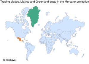 coffee-with-kat:  whowhatwhenwhereandwhynot:  peteseeger:  mapsontheweb: Trading places; Mexico and Greenland swap place in the Mercator Projection.  This is fucked up   Map to illustrate the true size of countries   : coffee-with-kat:  whowhatwhenwhereandwhynot:  peteseeger:  mapsontheweb: Trading places; Mexico and Greenland swap place in the Mercator Projection.  This is fucked up   Map to illustrate the true size of countries