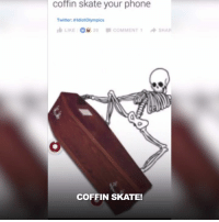 Dank, Dumb, and Too Much: Coffin skate your phone  Twitter alduotoympics  LIKE  1 A SHA  20 COMMENT  COFFIN SKATE! This guy's reaction to dumb tweets is too much 😂🙌