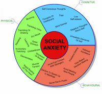 pyxell:  whimmy-bam:  sirileigh:  prllnce:  meggchan:  Mine is mostly cognitive.  I have all three. Well oops.  Dammit! So do I!  No one has said this yet, so I feel I must. THANK YOU FOR THIS. So many people don't seem to understand that social anxiety can manifest itself in multiple ways. Some people will just dismiss that you have social anxiety if you don't fit into what they perceive it to be, and that lack of understanding can be really hurtful. So thank you for this. (And as my personal comment, I fit into behavioural and cognitive.)  Mine is mainly cognitive and physical, rarely behavioural. : COGNITIVE  Self Conscious Thoughts  Thoughts Of  Inadequacy  PHYSICAL  Blushing  Low  Self-esteem  Negative Thoughts  About Self  Trembling Or Voice  Mind Games  Shaking  Unrealistic Demands  eDry Mouth  pset  Of Self  ANXIETY  Involuntary  Twitching Unsteadiness  Disorientation  S Avoidance  ation  Breath  Avoid Eye Contact  With Strangers r  Muscle  O.  Fear Based  Decision Making  Decline To Speak Up  Avoid Meeting  9o,  In Meetings  Never Eat In Public  BEHAVIOURAL pyxell:  whimmy-bam:  sirileigh:  prllnce:  meggchan:  Mine is mostly cognitive.  I have all three. Well oops.  Dammit! So do I!  No one has said this yet, so I feel I must. THANK YOU FOR THIS. So many people don't seem to understand that social anxiety can manifest itself in multiple ways. Some people will just dismiss that you have social anxiety if you don't fit into what they perceive it to be, and that lack of understanding can be really hurtful. So thank you for this. (And as my personal comment, I fit into behavioural and cognitive.)  Mine is mainly cognitive and physical, rarely behavioural.