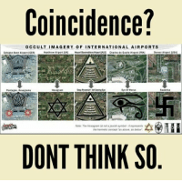 Airports Nope, not a coincidence: Coincidence?  OCCULT IMAGERY OF INTERNATIONAL AIRPORTS  Heathrow Airport IUKI  Houari Boumediene AirportALGN Charles de Gaulle Airpert IFRAI  Cologne Bonn Airport IGER1  Denver Airport IUSA  Step Pyramid. A SeeingEn  Swastika  Pentagon, Mera  Heat ran  Eye Of Horus  Note: The Hexagram ist not a jewish symbol-trepresents  the henmetic concept as above, so below  DONT THINK SO Airports Nope, not a coincidence
