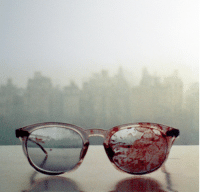 John Lennon, Omg, and Target: cokofeatneke:  The glasses John Lennon wore when he got shot, 31 years ago. i will always reblog this i dont know there is just something so powerful about this image Wow. This makes me feel so sad. omg Piece of history on my blog.  Yoko took this image on their window sill in the apartment…so sad
