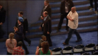 Funny, Colbert, and Side-Step: Colbert trying to side-step his way onto the DNC stage.