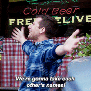 Target, Tumblr, and Blog: Cold Cee  FR  We're gonna take each  other's names! amy-santiago:#need me a freak like that