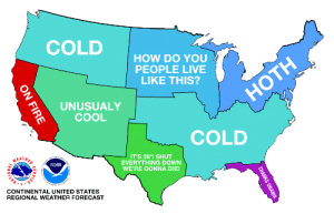 derrickrosenberg:  moistcornbread:  helllllooooootrickster:  drunkenkeith:  basically  Wtf is hoth? I'm confused America  HOTH IS AN OUTER PLANET FROM STAR WARS THAT IS COLDER THAN EVEN RUSSIA'S DEEPEST WINTERS YOU UNCULTURED POTATO  Reblogging for that last comment : COLD  HOW DO YOU  PEOPLE LIVE  LIKE THIS?  НOTH  UNUSUALY  COOL  COLD  NEATHER  IT'S 39°! SHUT  EVERYTHING DOWN  WE'RE GONNA DIE!  NOAA  CONTINENTAL UNITED STATES  • NAT  REGIONAL WEATHER FORECAST  THANKS OBAMA  ON FIRE derrickrosenberg:  moistcornbread:  helllllooooootrickster:  drunkenkeith:  basically  Wtf is hoth? I'm confused America  HOTH IS AN OUTER PLANET FROM STAR WARS THAT IS COLDER THAN EVEN RUSSIA'S DEEPEST WINTERS YOU UNCULTURED POTATO  Reblogging for that last comment