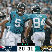 Memes, Afc Championship, and 🤖: COLE  FINAL  20 31 FINAL: @Jaguars take the AFC Championship rematch! #DUUUVAL #NEvsJAX https://t.co/WU18EE6sd6