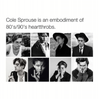 80s, Animals, and Anime: Cole Sprouse is an embodiment of  80's 90's heartthrobs. I love cole because he's like art but I also love Dylan bc he likes anime