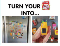 Memes, 🤖, and Mini: coles  TURN YOUR  LITTLE  SHOP  INTO  nut Mini shop fridge magnets yay or nay??