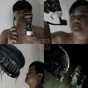 Low-cost-cosplay strikes again: Colgate  CHARCOAL  CLEAN Low-cost-cosplay strikes again