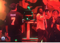 Memes, Snl, and 🤖: COLINK JayZ wears a custom ColinKaepernick jersey during SNL performance