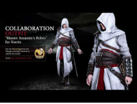 "PlayStation, Tumblr, and Xbox: COLLABORATION  OUTFI  ""Master Assassin's Robes""  for Noctis  Got the Dream E from the  Maogle Chocobo Canival to  unlock the outfit <p><a href=""http://verryfinny.tumblr.com/post/164562666240/an-all-new-immersive-assassins-festival-is"" class=""tumblr_blog"">verryfinny</a>:</p><blockquote><p><b>  An all-new immersive Assassin's Festival is overtaking the town of Lestallum!</b><br/><br/>Starting on August 31, 2017 until January 31, 2018, you can partake in this limited time event, featuring gameplay elements from the Assassin's Creed game series, mini-games, and a chance to obtain exclusive items, such as the ""Medjay Assassin's Robes"" for Noctis, Gladiolus, Ignis, and Prompto.<br/><br/>Final Fantasy XV: Assassin's Festival is available as a free download from the PlayStation Store and Xbox Store!<br/><br/>The ""Master Assassin's Robes"" for Noctis can be obtained via the Dream Egg, a special item from the Moogle Chocobo Carnival. The Moogle Chocobo Carnival is going on now and will end in late September, so don't miss out on this opportunity!  <br/></p></blockquote>"