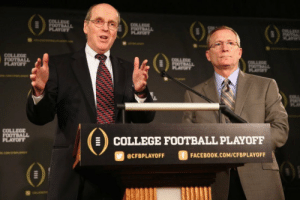 """The #CFBPlayoffcommittee, on who should be #1:   """"Sure, Ohio State and LSU are undefeated and LSU beat Alabama, but Alabama has a quality loss to a really good undefeated team. Neither Ohio State or LSU has that. We'll be voting Alabama #1."""" https://t.co/JmVES0tyzA: COLLEGE  FOOTBALL  PLAYOF  COLLEGE  FOOTBALL  PLAYOFY  OTL  AY  COLLEGE  FOOTBALL  PLAYOFF  COLLEGE  FOOTBALL  PLAYOF  COLLA  OTALL  PLAYT  COLLEGE  FOOTBALL  PLAYOFF  COLLEGE FOOTBALL PLAYOFF  ciwerana  FACEBOOK.COM/CFBPLAYOFF  @CFBPLAYOFF The #CFBPlayoffcommittee, on who should be #1:   """"Sure, Ohio State and LSU are undefeated and LSU beat Alabama, but Alabama has a quality loss to a really good undefeated team. Neither Ohio State or LSU has that. We'll be voting Alabama #1."""" https://t.co/JmVES0tyzA"""