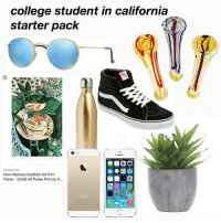 College, Goldfish, and Meme: College student in California  starter pack  Henri Matisse (Goldfish) Art Print  Poster-22x28 Art Poster Print by H... part 2 of previous meme bc it is me ... liberal arts California child