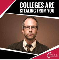 America, Charlie, and Memes: COLLEGES ARE  STEALING FROM YOU  TURNING  POINT USA Charlie Kirk Is SPOT ON! Universities Are Ripping Students Off Across America... #GameOfLoans