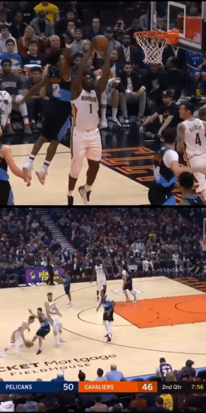 Collin Sexton swats Zion Williamson's dunk attempt!  The Young Bull also had a team-high 24 PTS & is averaging 22.7 PPG this month. https://t.co/Y8Q3aiUpFP: Collin Sexton swats Zion Williamson's dunk attempt!  The Young Bull also had a team-high 24 PTS & is averaging 22.7 PPG this month. https://t.co/Y8Q3aiUpFP
