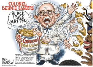 """This is disgusting: COLONEL  BERNIE SANDERS  BLACK  LIVES  MATTER!  LEFT  WING  CoIMnIst  """"FINGER FLIPPIN' GOOD!""""  