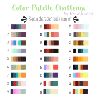 """<p><a href=""""http://drawthisshitt.tumblr.com/post/158582347299/i-created-a-color-palette-challenge-feel-free-to"""" class=""""tumblr_blog"""" target=""""_blank"""">drawthisshitt</a>:</p>  <blockquote><blockquote><p>I created a color palette challenge. Feel free to use it!</p><p>Have fun drawing :)</p></blockquote></blockquote>: Color Palelle Challenge  Send a character and a number  by Prawthalshitl  10  20  12  21  23  24  25  26 <p><a href=""""http://drawthisshitt.tumblr.com/post/158582347299/i-created-a-color-palette-challenge-feel-free-to"""" class=""""tumblr_blog"""" target=""""_blank"""">drawthisshitt</a>:</p>  <blockquote><blockquote><p>I created a color palette challenge. Feel free to use it!</p><p>Have fun drawing :)</p></blockquote></blockquote>"""