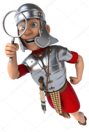 History, Roman, and Looking: Colorized Photo of a Roman Soldier Looking For Pompeii.