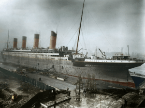 Colorized Photo of the Titanic: Colorized Photo of the Titanic