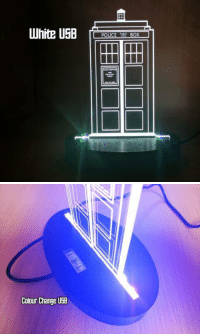 """Police, Tumblr, and Blog: Colour Change USB <p><a href=""""https://novelty-gift-ideas.tumblr.com/post/159047568498/tardis-dr-who-police-call-box-inspired-acrylic"""" class=""""tumblr_blog"""">novelty-gift-ideas</a>:</p><blockquote><p><b><a href=""""https://craftypics.co.uk/products/police-box-dr-who-colour-changing-led-desk"""">TARDIS DR WHO POLICE CALL BOX INSPIRED ACRYLIC LIGHT</a></b></p></blockquote>"""