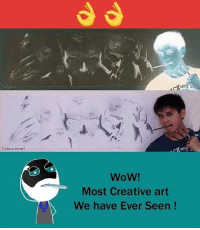 Memes, 🤖, and Art: Colour invert  Wow!  Most Creative art  We have Ever Seen Twitter: BLB247 Snapchat : BELIKEBRO.COM belikebro sarcasm meme Follow @be.like.bro