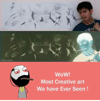 Memes, Wow, and 🤖: Colour Invert  WoW!  Most Creative art  We have Ever Seen