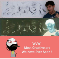 Memes, Wow, and Arts: Colour Invert  WoW!  Most Creative art  We have Ever Seen  AND