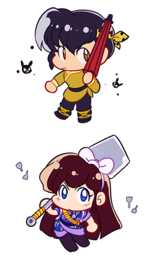colourfulsteps:  Tiny Ucchan and Ryoga cheeb: colourfulsteps:  Tiny Ucchan and Ryoga cheeb