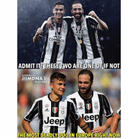 Ass, Memes, and Europe: COM ASS  ADMIT IT! THESE TWO ARE ONE OFIF NOT  JUVENTUS IS  JIIMDNA  IN MY DNA  Jeepeep  THE MOST DEADLY DUOIN EUROPE RIGHT NOVW Agree? 🤔 🅰️ Yes 🅱️ No