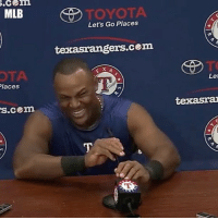 Espn, Memes, and Mlb: .com  MLB  TOYOTA  Let's Go Places  texasrangers.cem  OTA  laces  Let  s.cem AdrianBeltre channeling his inner MarshawnLynch 😂😂 (Via @espn) @worldstar WSHH