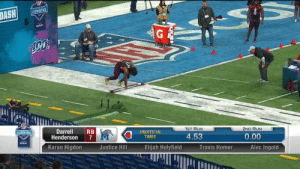.@MemphisFB RB Darrell Henderson runs a 4.36u 40-yard dash!  📺: #NFLCombine on @nflnetwork https://t.co/3LUFpwcs1u: COMBINE  1ST RUN  2ND RUN  DarrellRB  Henderson 7  Karan Higdon  COMBINE  UNOFFICIA  4.53  0.00  TIMES  vertzon  Justice Hill  Elijah Holyfield  Travis Homer  Alec Ingold .@MemphisFB RB Darrell Henderson runs a 4.36u 40-yard dash!  📺: #NFLCombine on @nflnetwork https://t.co/3LUFpwcs1u