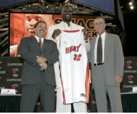 12 years ago today, Shaq was traded from the Los Angeles Lakers to the Miami Heat: Comcast  ast.  MIAMI  NEAT  COmCas  MI  RANDY PFUND  St  HEAT  32  MIAMI  OmCast  MIAMI  HEAT  COm  COS 12 years ago today, Shaq was traded from the Los Angeles Lakers to the Miami Heat