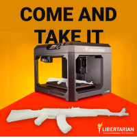 Libertarians oppose all laws at any level of government restricting, registering, or monitoring the ownership, manufacture, or transfer of firearms or ammunition -- including 3D printed guns.  Libertarians support ALL of your freedoms ALL of the time - not just when it's popular.: COME AND  T LIBERTARIAN  T LIBERTARIAN  All of your freedoms. All of the time. Libertarians oppose all laws at any level of government restricting, registering, or monitoring the ownership, manufacture, or transfer of firearms or ammunition -- including 3D printed guns.  Libertarians support ALL of your freedoms ALL of the time - not just when it's popular.