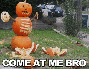 The 50 Funniest Halloween Memes Of All Time (GALLERY): COME AT ME BRO The 50 Funniest Halloween Memes Of All Time (GALLERY)