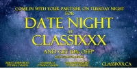 """Netflix & Chill losing its thrill? Come to Classixxx for Tuesday Date Night! #Datenight #AdultStore #Ottawa https://t.co/npjmM2IHKZ: COME IN WITH YOUR PARTNER ON TUESDAY NIGHT  FOR  DATE NIGHT  CLASSIXXX  AT  AND GET 10% OFF  SEE IN STORE FOR DETAILS  2208 ST. JOSEPH BLyD  2130 ROBERTSON  BENISONDADCLASSIXXX.CA  """"1724 BANKST  ·  OTTAWA, CANADA OTTAWA CANADA  OTTAWA, CANADA Netflix & Chill losing its thrill? Come to Classixxx for Tuesday Date Night! #Datenight #AdultStore #Ottawa https://t.co/npjmM2IHKZ"""