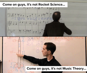 come on: Come on guys, it's not Rocket Science...  be  I  >M=131+ 7511+ILZ/5 * |255  SA 1616  46  2 2  7.5-  17  Come on guys, it's not Music Theory...