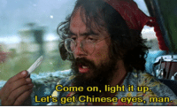 Click, Memes, and Chinese: Come on, light it up  Lets get Chinese eyes, man Pipe up with Tommy Chong. Click here to enter to win the Genius Pipe:  https://goo.gl/RYRyw7