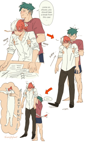 Target, Tumblr, and Blog: come on,  shouto, you  should take  a break from  this case  HOIST  shou... thatmightyheart:  hc that if u lift shouto up he does the longcat thingbonus:(from b99)
