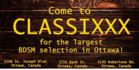 Classixxx has the largest BDSM selection in Ottawa! Come and see for yourself! #BDSM #Ottawa #AdultStore https://t.co/XhHB9PwknU: Come to  CLASSIXXX  for the Targest  BDSM selection in 0ttawa!  2208 St. Joseph Blvd,  0ttawa, Canada  1724-Bank St.  Ottawar Canada  2130 Robertson Rd.  、Ottawa, Canada  -  _ Classixxx has the largest BDSM selection in Ottawa! Come and see for yourself! #BDSM #Ottawa #AdultStore https://t.co/XhHB9PwknU