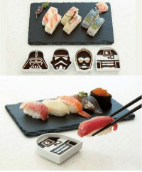 Memes, 🤖, and The Darkness: Come to the dark side, we have soy sauce. Follow @9gag @9gagmobile 9gag starwars darthvader sushi (cr: Rowandesign)