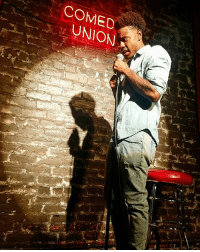 """Now this has to be one of the DOPEST Pics to date of me being caught in my Stand Up Element!🔥🙌🏾🔥 Trust believe there's more to come on this New Venture and I'm putting in the WORK! So look out and because I'm building towards my OWN Tour! Maybe the """"Chicken N Bisquits Tour""""😏🤣 Hit me up if you want to Book me to come to your town and Light up that Stage! Until then Stay tuned!!!!🙏🏾😎 standup comedy PeepThatShadowTho FutureLegend JuhahnJones: COMED  UNION Now this has to be one of the DOPEST Pics to date of me being caught in my Stand Up Element!🔥🙌🏾🔥 Trust believe there's more to come on this New Venture and I'm putting in the WORK! So look out and because I'm building towards my OWN Tour! Maybe the """"Chicken N Bisquits Tour""""😏🤣 Hit me up if you want to Book me to come to your town and Light up that Stage! Until then Stay tuned!!!!🙏🏾😎 standup comedy PeepThatShadowTho FutureLegend JuhahnJones"""