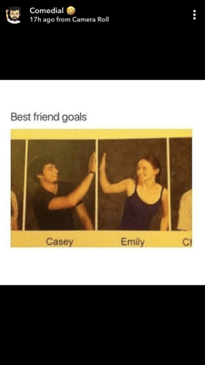 : Comedial  17h ago from Camera Roll  Best friend goals  Casey  Emily