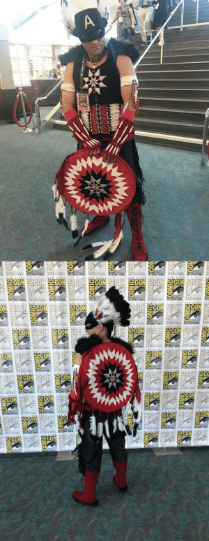 cosplayinamerica:  I was legitimately thrilled with the overall reception of my costume. I never could've imagined that it would make so many people so happy! But I exchanged so many hugs and daps and high fives, it was unreal. I had a lot of really great conversations with people that were just super excited to see some Native representation at the convention. So that part was really special for me, because that was a big part of my own personal inspiration to begin with.I originally brainstormed this costume in late 2015, but I really started rolling on production this last year, once I committed to this years SDCC… My main goal was to make a Native American variant of a fan-favorite character. I was immediately drawn to Captain America because of everything he symbolizes as basically the poster boy of a nation. To me it was the perfect parallel. And once I visualized the red and white bone breastplate on my abdomen, I knew this was something I had to see through.A lot of old school leather work with the awl! The majority of the armor was made from a base of 6mm EVA foam with 3 oz deer hide glued over it. The pieces were then stitched together with sinew or leather lace. Using this technique allowed me to form curves and build the necessary bulk of the armor pieces while also getting the suede textures I was looking for. And a whole lot of beading!—- https://www.instagram.com/hot.glue.burns/PHOTO: https://www.instagram.com/p/B0FQd_1AKhk/: COMIC ACOMIC COMICE  COMIC COMICE ECOMIC ECOMICE BCOMIC ECOMICE NCOMICE COMICERCOM  COMICE ACOMICCOMIC COMICE COMICE ECOMICCOMICECOMICECO  COMIC COMICE ACOMICE ECOMICE COMIC COMICE ICOMIC COMICE CON  OMICE COMICCOMICCOMICECON  GE COMICE CON  IC COM  COM OMICE  wCOMICEC COMICE CON  COMICE COMICECOMICE COMICE COMICE ECOMICECOMICE COMIC COM  COMIC COMICCOMIC ECOMICECOMICE COMICCOMICCOMIC COM  ECOMIC COMIC COMICE COMICE COMICE COMICECOMICE COMIC ECOM  COMICE COMIC COMIC COMICE COMIC COMICE COMICEECOMICOOL cosplayinamerica:  I was legitimately thrilled with the overall reception of my costume. I never could've imagined that it would make so many people so happy! But I exchanged so many hugs and daps and high fives, it was unreal. I had a lot of really great conversations with people that were just super excited to see some Native representation at the convention. So that part was really special for me, because that was a big part of my own personal inspiration to begin with.I originally brainstormed this costume in late 2015, but I really started rolling on production this last year, once I committed to this years SDCC… My main goal was to make a Native American variant of a fan-favorite character. I was immediately drawn to Captain America because of everything he symbolizes as basically the poster boy of a nation. To me it was the perfect parallel. And once I visualized the red and white bone breastplate on my abdomen, I knew this was something I had to see through.A lot of old school leather work with the awl! The majority of the armor was made from a base of 6mm EVA foam with 3 oz deer hide glued over it. The pieces were then stitched together with sinew or leather lace. Using this technique allowed me to form curves and build the necessary bulk of the armor pieces while also getting the suede textures I was looking for. And a whole lot of beading!—- https://www.instagram.com/hot.glue.burns/PHOTO: https://www.instagram.com/p/B0FQd_1AKhk/